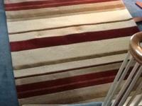 Ethan Allen location rug, about 6x9'. 100 % wool face,