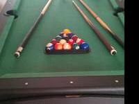 have a 6ft pool/ airhockey table.. it has full rack of