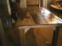 6ft by 3ft hand made table made out of 1879 old barn