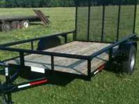 6ft x 10 ft Pipe Top Trailer all weld A-Frame 3