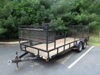 I have for sale a 6ft x 18ft Landscape Utility Trailer.