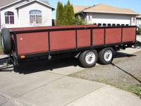 6ft wide x 8ft long Tilt Trailer w/ hand winch