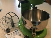 "6 Quart ""Green Apple"" KitchenAid Mixer Rebuilt with all"