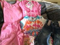 Girls size 6t. 2 shirts with tags, 1 pr Capris, and one