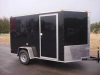 New enclosed 6x10 plus with 2' of V nose. With rear