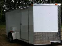 New enclosed 6x10 plus with 2' of V nose. 12' V to the