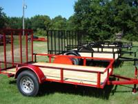 Brand New 6X10 Trailer with Gate. 6ft inside width,