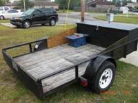 6X10 utility trailer with work/tool box, spare tire,