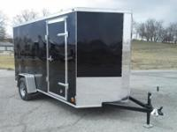 2014 Cross 6x12 (black) enclosed trailer with arrow