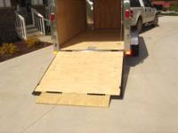 Enclosed Cargo Trailer with a ramp. New Trailer. Price