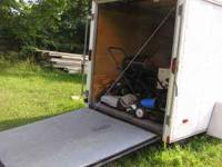 Haulmark trailer fold down ramp door and side door. ran