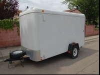 6x12 Enclosed Trailer with Beaver Tail ramp and side