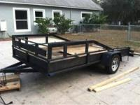 Heavy Duty Trailor with 5ft ramp to ride a mower onto,