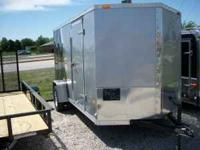 New 2011 Enclosed Trailer made by MTI, 2 tone Silver