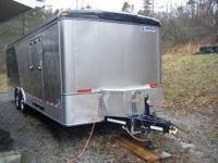 "6x12SA Cargo Trailer with V-Nose, 3/8"" plywood walls,"