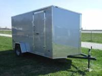 2015 Stealth 6x12 (silver) enclosed trailer with slant