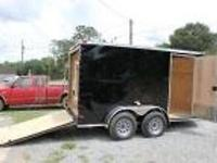 Brand new 6X12TA V-Nose Black enclosed cargo trailer,