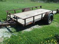 6x12 trailer 1999 model 3500 lbs axle good floor all