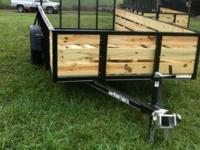 Standard Features 6x12 Wood Hauler Trailer 2' Board MSO