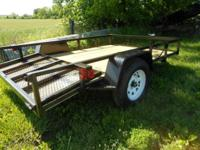 New 6x12' Dovetail,Diamond Fenders,5 Tie down,Gate fold