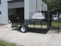 6x12 with 2' expanded metal sides, rear gate, Dexter