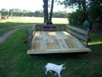 UTILITY TRAILER 6x12 foot, steel frame, treated wood
