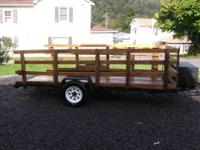I have a 6x12 utility trailer for sale. It is in good