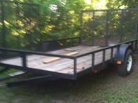 This trailer is ready for your landscape business or