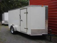 New 6x12. Plus 2' of V. Side door, rear ramp door. GVW