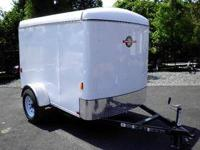 NEW ENCLOSED V NOSE CARGO TRAILER 2012 MODEL SIDE DOOR