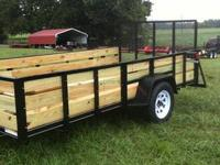6x12' All Purpose Utility Trailer 2' Deck Board