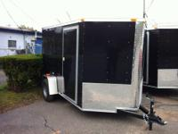 New 6x12. plus 2' of V nose. Side door. Rear barn