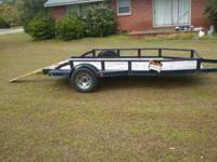 I am selling my 6x12ft utility with welded sides, nice