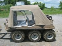 6x6 Max IV amphibious vehicle vinyl cab new chains and
