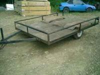 Nice utility trailer. Pulls down the road great. Has