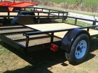 6x8 Trailer Gate Fold Inside Trailer MSO 1 year