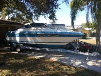 1988 24' Sea Ray Sorrento 24 Cuddy and Trailer. It has
