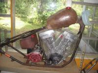 My husband was building a harley chopper before he died