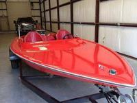 Roger Jet boat has new paint on the top, seat four in