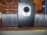 JBL 7.1 SURROUND SYSYEM INCLUDES SIX SATELLITES FOR