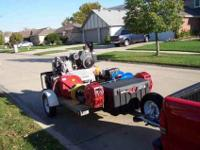 Custom trailer with T-30 air compressor 12.5 Hp Kohler