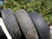 We have 7, 225/75/15R tires 60% to 100% tread, $30