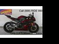 Used 2007 Yamaha R6 for sale with only 2,876 mis! This