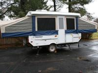 2010 Flagstaff Model 228D pop up camper. 12' body that