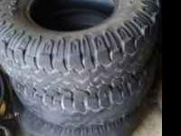 I have 7 tires size is 31 x 10.5 some have tread some