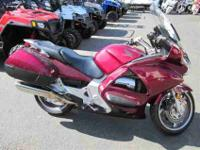 2005 HONDA ST1300, Candy Dark Red, honda's st1300 has