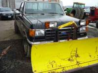 Decent old style fisher plow, with belt drive pump,