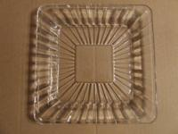 Collection of 4 @ 7.5 inch square crystal treat plates