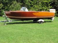 1958 Berglund 15' runabout with 1958 Johnson Super Sea