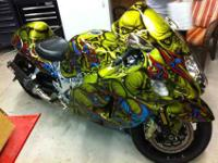 This is a custom seven busa with plenty of after market